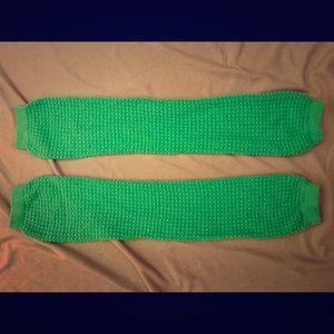 American Apparel Lime Green Leg Warmers